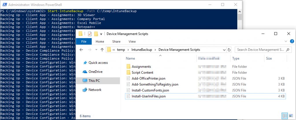 Backup and Restore your Microsoft Intune configuration with
