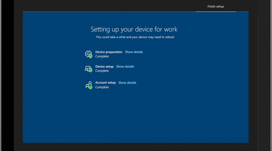 Fast sign-in experience on Windows Autopilot enrolled Shared